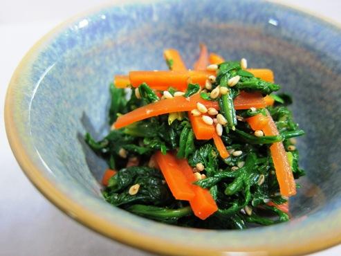菊菜とにんじんのナムル(B)