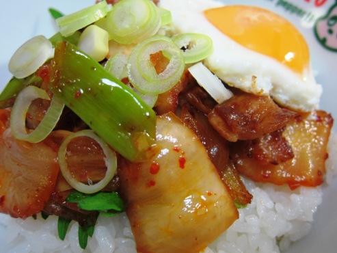 豚キムチ丼①
