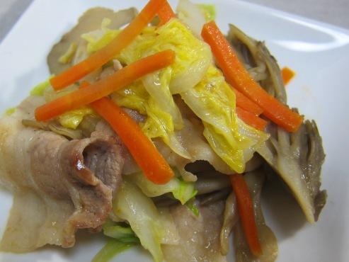 白菜と舞茸炒め大