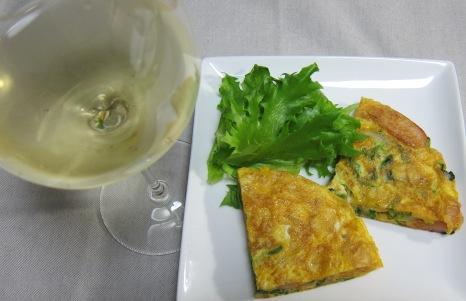 ポテチオムレツ&ワイン
