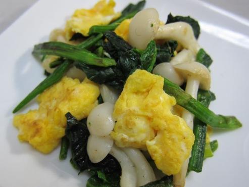 ほうれん草と卵炒め(B)