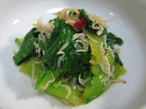 青梗菜の和え物大①