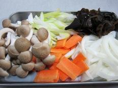 野菜あんかけ材料