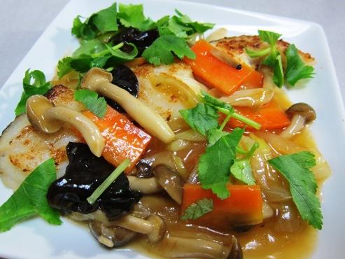 白身魚の野菜あんかけ(B)