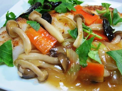 白身魚の野菜あんかけ大