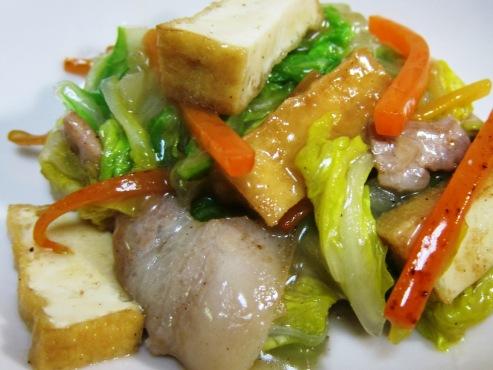 白菜と厚揚げの炒め大