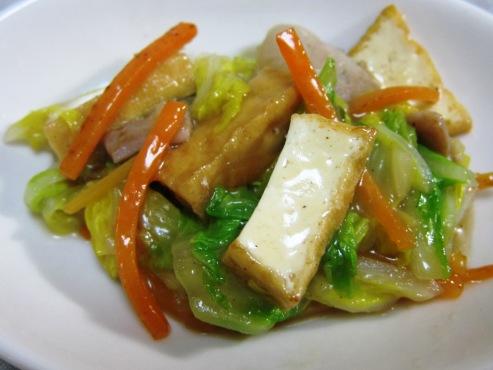 白菜と厚揚げの炒めもの(B)