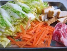 白菜と厚揚げの炒め材料
