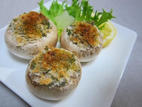 マッシュルームのチーズパン粉焼き(B)