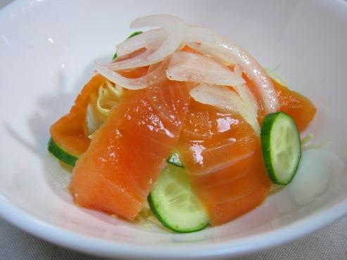 スモークサーモンのサラダ大