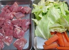 鶏キャベツポン酢材料