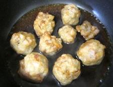 れんこん団子の甘酢 調理の仕上げ