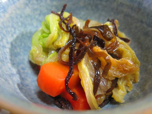 白菜の塩昆布和え(B)