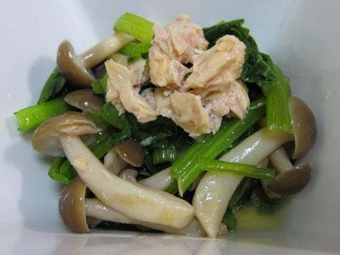 小松菜とツナの炊いたん大