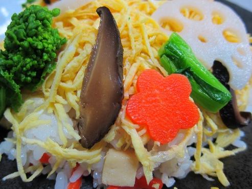 菜の花 ちらし寿司拡大