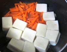 菜の花 ちらし寿司 高野豆腐とにんじん調理