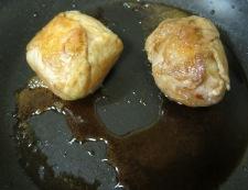 卵の肉巻き フライパン②