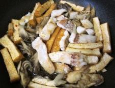 厚揚げと白身魚のピリ辛炒め フライパン④