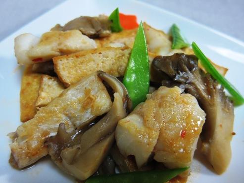 厚揚げと白身魚のピリ辛炒め拡大