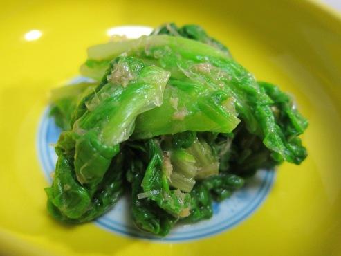 山東菜のおひたし大