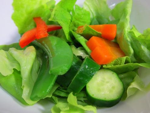 サラダ菜のサラダ拡大