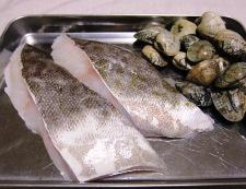 白身魚のあさりバターソース 材料