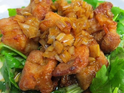 鶏の唐揚げネギソース大