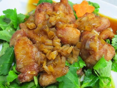 鶏の唐揚げネギソース(B)