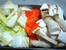 白菜のあんかけ炒め材料