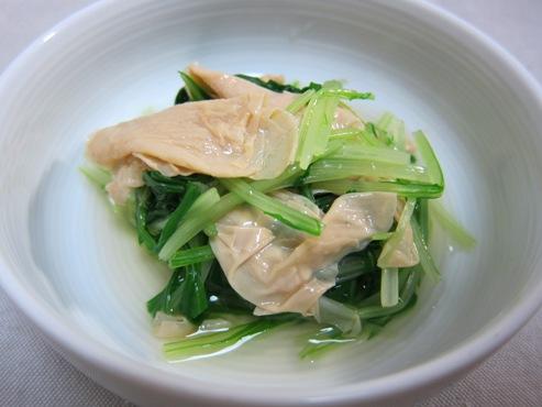 湯葉とみず菜の炊いたん(B)