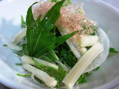 水菜と新タマネギのサラダ(B)