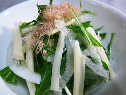 水菜と新玉ねぎのサラダ大