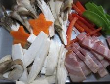 洋風野菜炒め材料