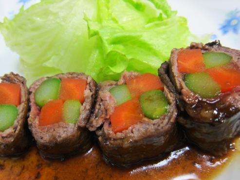 牛肉のアスパラ巻き(B)