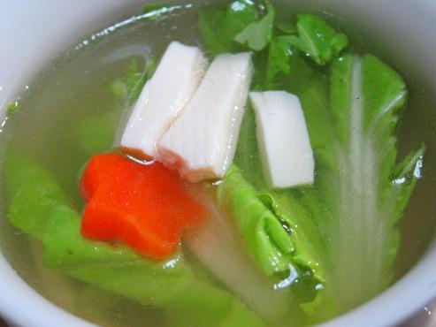 白菜と豆腐のスープ大