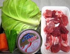 春キャベツの八宝菜 材料
