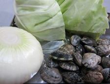 あさりと春野菜の和風蒸し 材料