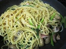 小松菜ぺペロンチーノ 調理④