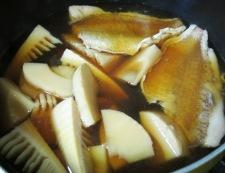 鯛と筍の煮物 調理