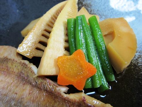 鯛と筍の煮物 筍拡大