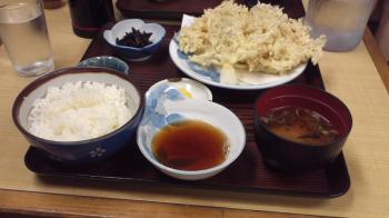 しらす天ぷら定食