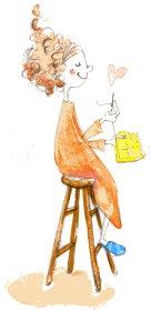 女性椅子illust-handmade1