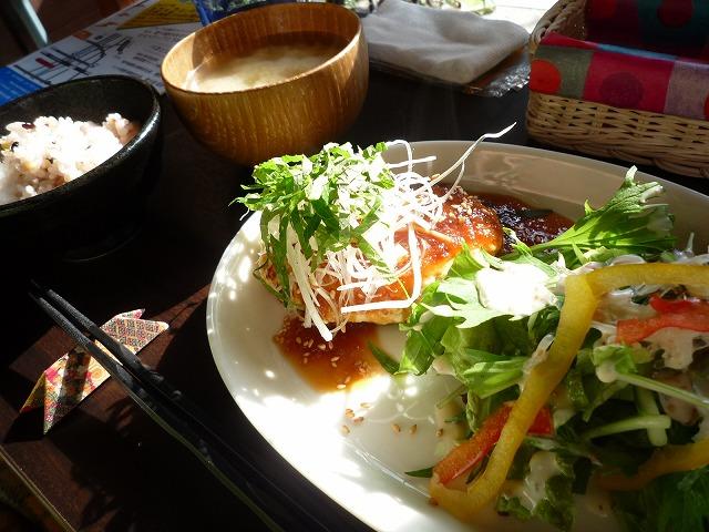 根菜とおからのハンバーグ