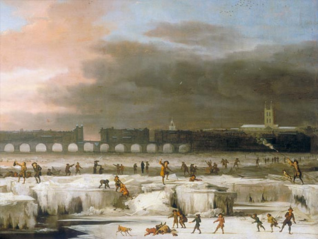 テムズ川全面凍結