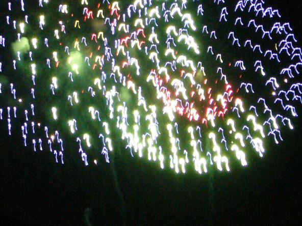 2014若草山山焼き。 花火2