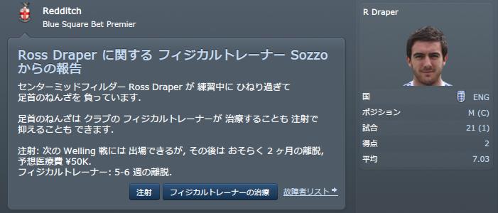 2015-16 Draper負傷