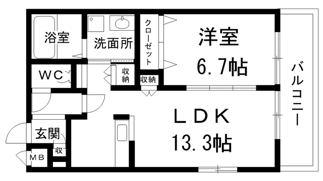 (1LDK)(仮)肥子町メゾン1・2号タイプ