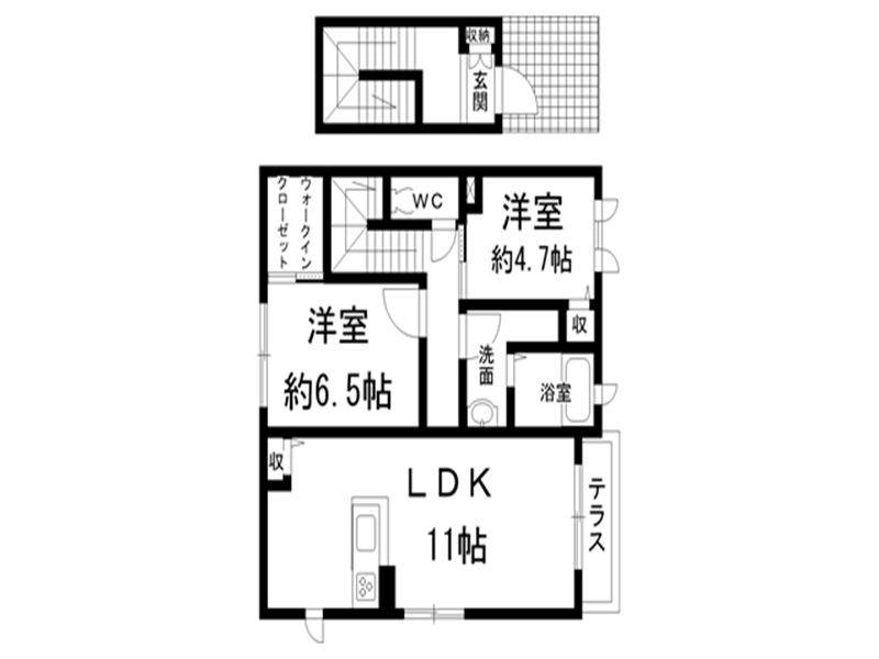 (2LDK)シャーメゾン_R