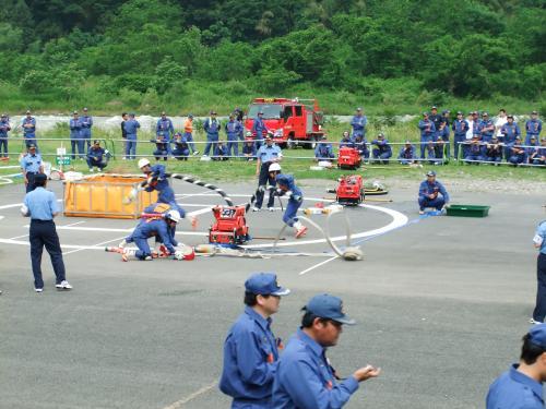 消防団小型ポンプ操法