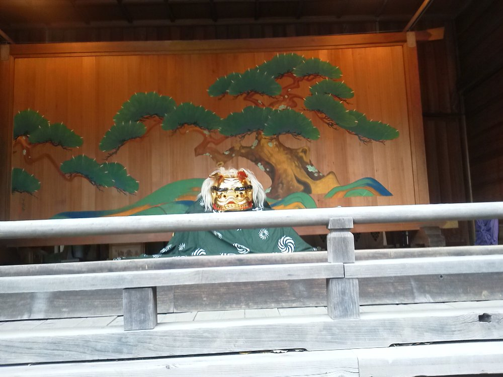 F1000470常盤台天祖神社 神楽殿の獅子